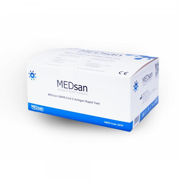 MEDsan SARS-CoV-2 Antigen Rapid Test – 25er-Set