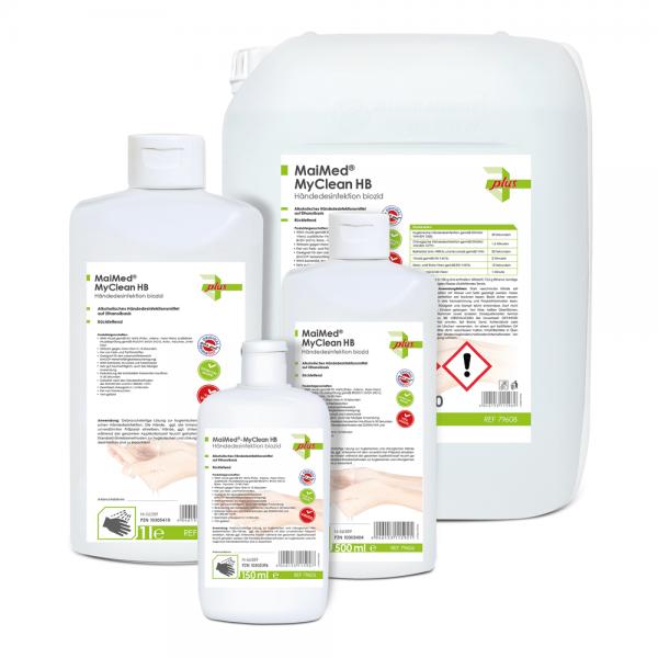MaiMed® MyClean HB 150ml Kittelflasche Händedesinfektion 79605